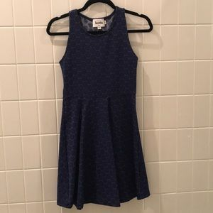 Leora Blue Sleeveless A-Line Dress PXS